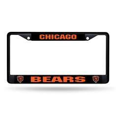Chicago Bears NFL Black (Metal) Lincense Plate Frame