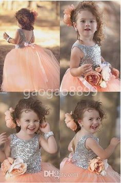 Peach Pink Shiny Sequin Princess Dresses For Your Little Girl Handmade Flower Ball Gown Flower Girls' Dresses Flower Girl Dresses With Train Flower Girl Dresses Yellow From Gaogao8899, $68.07| Dhgate.Com