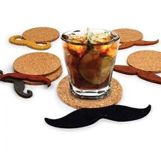 Save your table and the men in your life with Moustache Coasters.