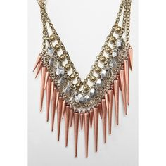 Bleeker Spike Necklaces ❤ liked on Polyvore