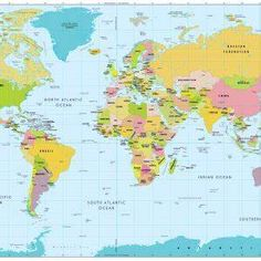 1970 World Map By National Geographic Maps World Wall Map World
