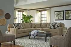 Best Home Furnishings Annabel Five Piece Customizable Sectional Sofa With  Track Arms And Wood Feet