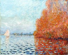 1874, Claude Monet / The Seine near Argenteuil