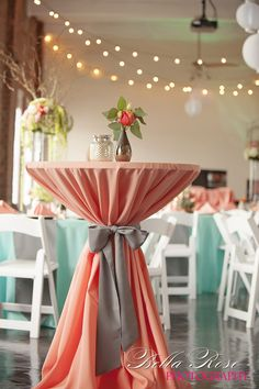 Coral/Mint Wedding .. this set up is so pretty. imagine it with more rustic details though.