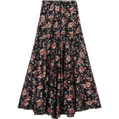 Miranda Kerr wearing Isabel Marant Peace Floral Skirt