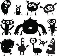 Monsters vector art illustration