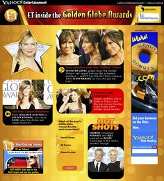 ENTERTAINMENT TONIGHT -- Golden Globes minisite on Yahoo!  Drove 17 million pageviews the day after the Golden Globes show.