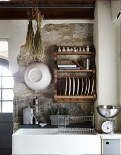 Rustic Kitchen On A Budget rustic house fireplace.Rustic Kitchen On A Budget. Rustic Home Interiors, Cottage Interiors, Rustic Cottage, Rustic Farmhouse, Kitchen Rustic, Farmhouse Interior, Rustic Houses, Farmhouse Small, Rustic Kitchens