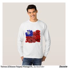 Taiwan (Chinese Taipei) Vintage Flag T-Shirt - Heavyweight Pre-Shrunk Shirts By Talented Fashion & Graphic Designers - #sweatshirts #shirts #mensfashion #apparel #shopping #bargain #sale #outfit #stylish #cool #graphicdesign #trendy #fashion #design #fashiondesign #designer #fashiondesigner #style
