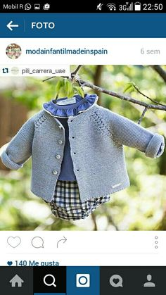 Niño Baby Cardigan, Cardigan Bebe, Baby Kind, Baby Patterns, Baby Knitting Patterns, Baby Wearing, Carrera, Newborn Outfits, Baby Boy Outfits