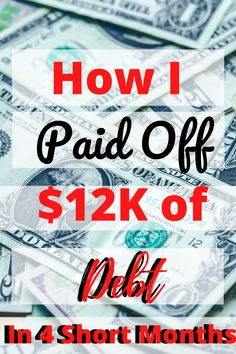 As I write this I am still stunned that I was able to payoff $12,000 dollars of debt in only four months. I want to tell you exactly how I did it and provide you with tips and encouragement to reach our debt free goals too! #debtfree #FIRE Saving Tips, Saving Money, Get Out Of Debt, Frugal Living Tips, Debt Payoff, How To Get, How To Plan, Debt Free, Budgeting