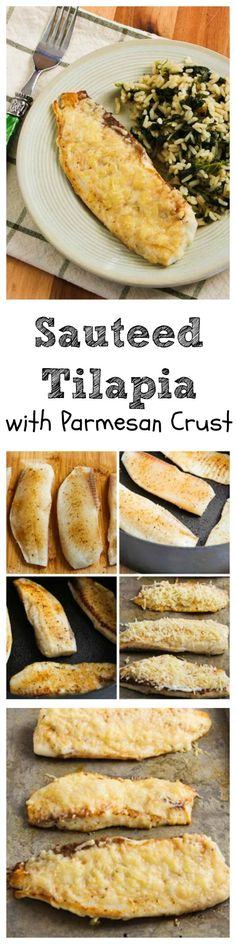 This easy and delicious Sauteed Tilapia with Parmesan Crust just might be the recipe that will get your family to enjoy fish!  And this healthy recipe is Low-Carb and Gluten-Free!  [from KalynsKitchen.com]