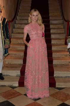 Diane Kruger wears a Valentino gown from the Spring 2014 collection at the Valentino Ball at Palazzo Volpi during the 70th Venice International Film Festival  on September 4th 2013 in Venice