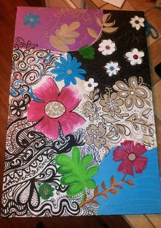 fun colorful painted canvas