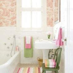 Pink Green Bathroom Vintage Bathrooms Tiny Beautiful Decor