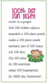 Cute 100 day ideas for second graders!