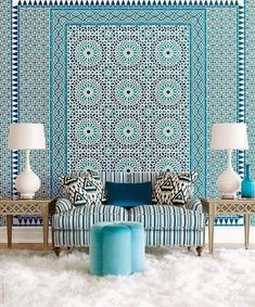 Moroccan design house design design and decoration Moroccan Design, Moroccan Tiles, Moroccan Decor, Modern Moroccan, Moroccan Room, Moroccan Lanterns, Moroccan Blue, Turkish Tiles, Style Marocain
