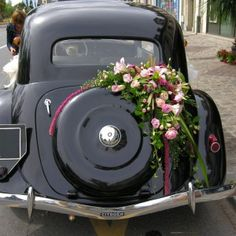 D Coration Florale Voiture On Pinterest Mariage Wedding Car Decorations And Wedding Cars