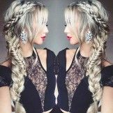 Braids to the Side Hairstyle for Prom 2017