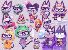 Animal Crossing Fan Art, Animal Crossing Villagers, Animal Crossing Memes, Animal Crossing Qr Codes Clothes, Star Fox, Furry Drawing, Funny Animal Memes, Cute Art, Character Design