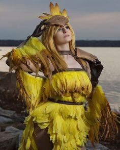 """""""Sun's going down. better turn in for the night."""" Byndo Gehk Chocobo shot by Cyberhead Design Best Cosplay, Awesome Cosplay, Final Fantasy Cosplay, Burlesque Show, Totoro, Cosplay Girls, Art Reference, Halloween Costumes, Cosplay Ideas"""
