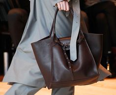 Céline Explores Giant Proportions and the Return of the Ring Bag on Its Fall 2017 Runway