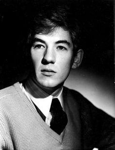 19 Pictures of Young Ian McKellen Ian Mckellen Gandalf, Sir Ian Mckellen, Hobbit, J. R. R. Tolkien, Hooray For Hollywood, British Actors, Scottish Actors, Black And White Portraits, Hollywood Actor
