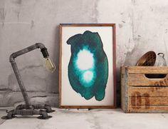 Dark Green Abstract Art Print. Green Abstract Art Print. Dark Green Abstract Art. Large Abstract Art Print