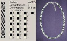 Crochet beaded rope black and white Bead Crochet Patterns, Bead Crochet Rope, Beaded Jewelry Patterns, Crochet Designs, Bracelet Patterns, Beading Patterns, Beaded Crochet, Crochet Beaded Bracelets, Crochet Necklace