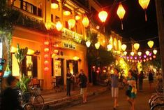 Hoi An is a peaceful and lovely little town on coast of central Vietnam. Hoi An Old Town offers the special things which you can not find in any where else Wall Colors, House Colors, Hoi An Old Town, Getting Up Early, Covered Bridges, Night Time, Picture Show, The Locals, Tourism