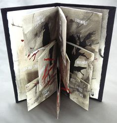Blown And Fallen by Alisa Golden, 2007 -  Playing with An Accordion #tutorial #handmade_books