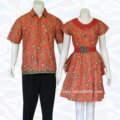 batik couple orange 74 di katalog toko baju batik modern online sekarbatik.com
