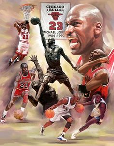 Michael Jordan Fresh Air Art Print by Wishum Gregory