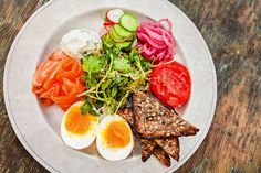 In recent years, Los Angeles's chefs have spiced up their breakfast menus. Here, the smoked fish and egg plate at Gjusta in the Venice area.
