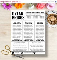 resume template cover letter instant download tips pinterest