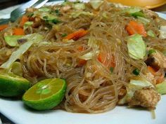 A beloved dish found in the humblest of carinderias or the finest dining establishments, Pancit Bihon is a comforting merienda and a must-have on any Filip | Panlasang Pinoy Recipes