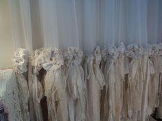 4 Panels! Sheer & Vintage Lace Curtains Shabby Cottage Chic Boho Window tmyers  #ShabbyChic #ShabbyChic