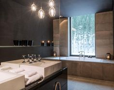 Luxusbad im Designhotel am Skigebiet