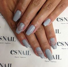 #gray #chevron #nails #nailart
