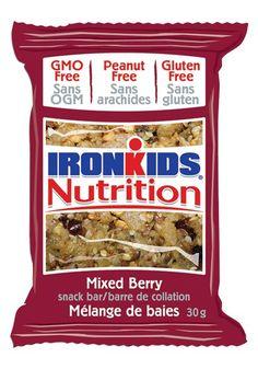 IronKids Nutrition Snack Bars - Mixed Berry #nutfree #glutenfree #gmofree Bar Mix, Tart Taste, Snack Recipes, Snacks, Mixed Berries, Snack Bar, Nut Free, Glutenfree, Blueberry