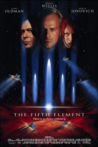 The Fifth Element is a science fiction movie directed by Luc Besson 15 years ago.
