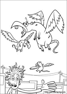 Cloudy with a chance of meatballs coloring picture