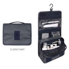 Diniwell Pattern Travel Hanging Toiletry Pouch Bag (Classic Navy) *** You can get more details here : Travel essentials