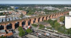 Drone over viaduct Stockport Market, Stockport Uk, Derbyshire, Amazing Architecture, Aerial View, Old Photos, San Francisco Skyline, Manchester, England