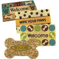 Pet Studio Coir Fiber Door Mat Welcome Dog PET PALS