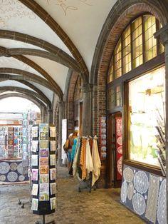Lace shop Arcade Bruges Belgium