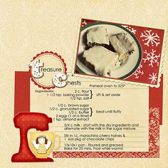 Love this recipe of my mom's.I remember making these when I was little!Credits: everything from Jennifer Labre's Sugar and SPice and her add-on! Recipe Card Boxes, Recipe Cards, Recipe Journal, Food Journal, Scrapbook Recipe Book, Kids Cookbook, Diy Recipe, Paper Trail, Recipe Books