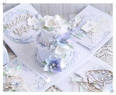 Cute Christmas Gifts, Christmas Boxes, Wedding Cards, Wedding Gifts, Exploding Box Card, Magic Box, Explosion Box, All Flowers, Little Boxes