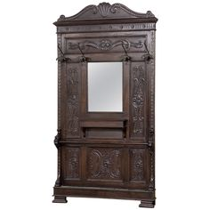 19th Century Antique Italian Renaissance Hall Tree | From a unique collection of antique and modern coat stands at https://www.1stdibs.com/furniture/more-furniture-collectibles/coat-stands/