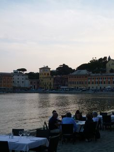 """Cena, Ristorante di """"Hotel Miramare Sestri Levante"""", Sestri Levante Liguria Italia (Luglio)"""